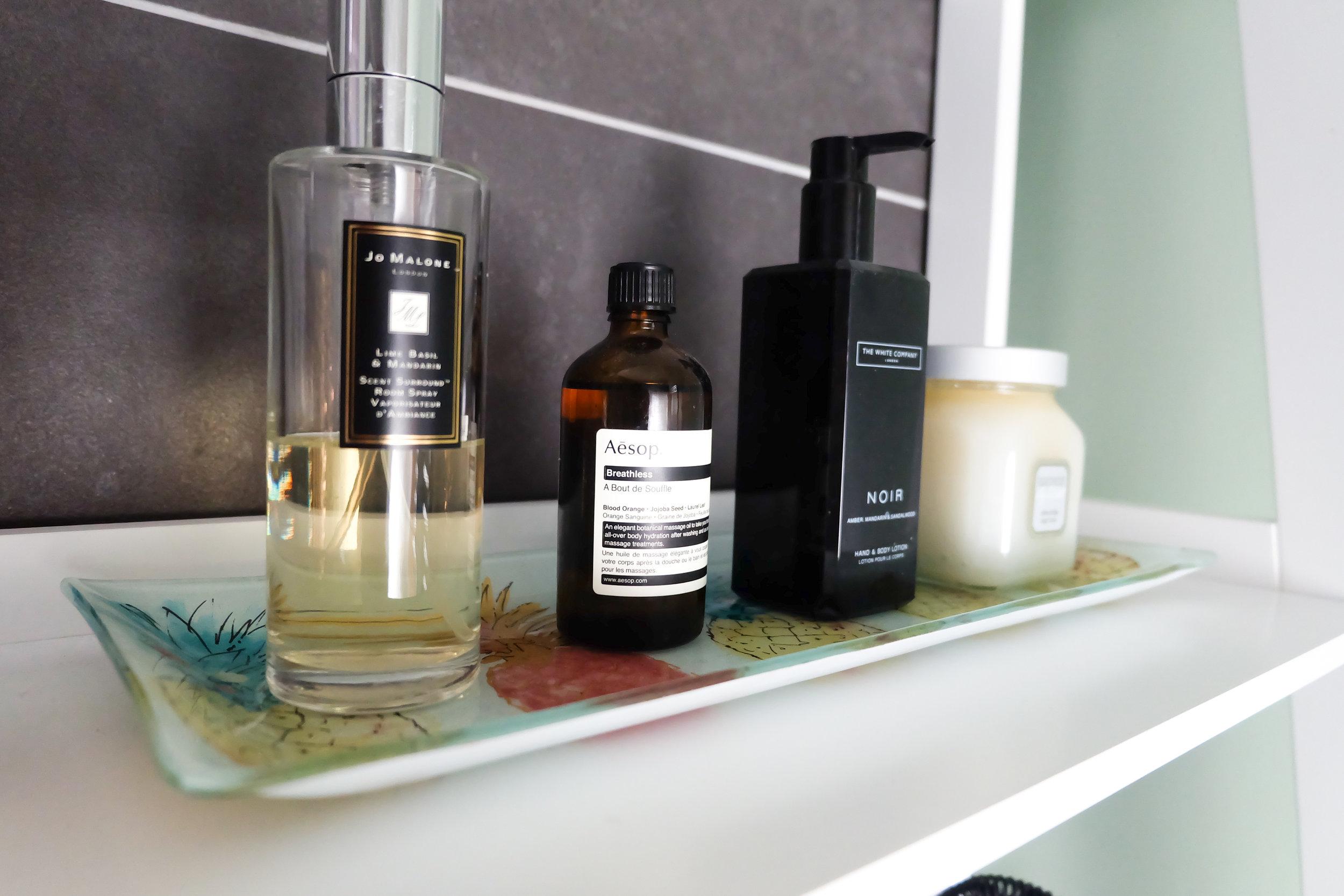 Bathroom beauty products