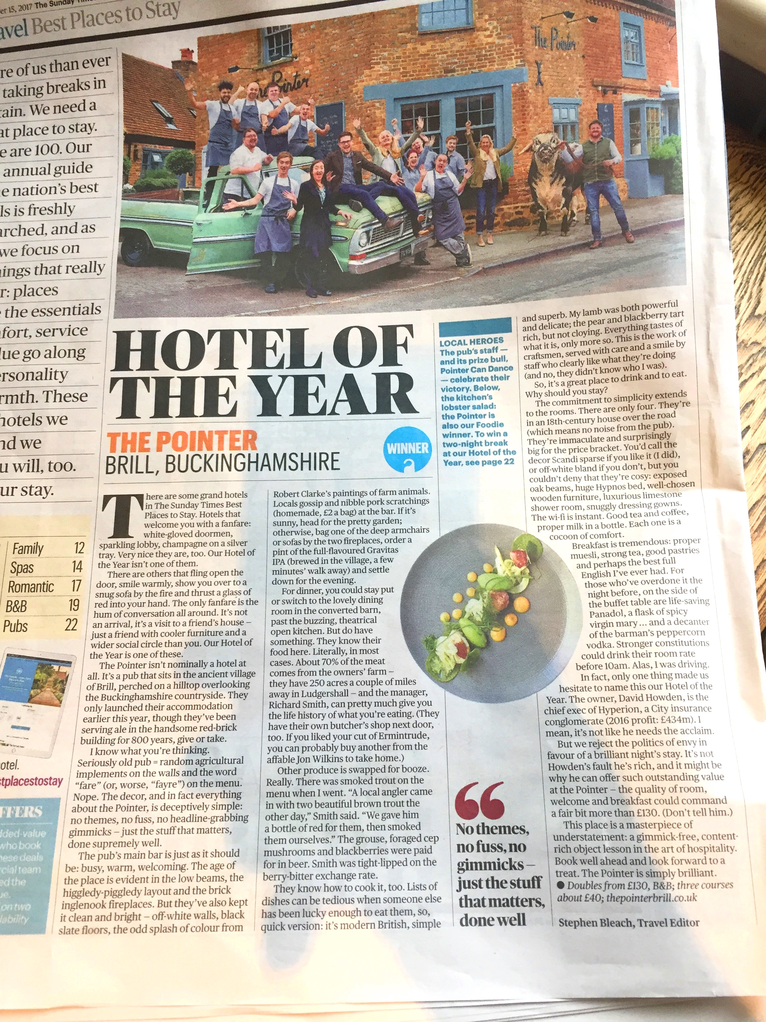 Hotel of the Year Sunday Times