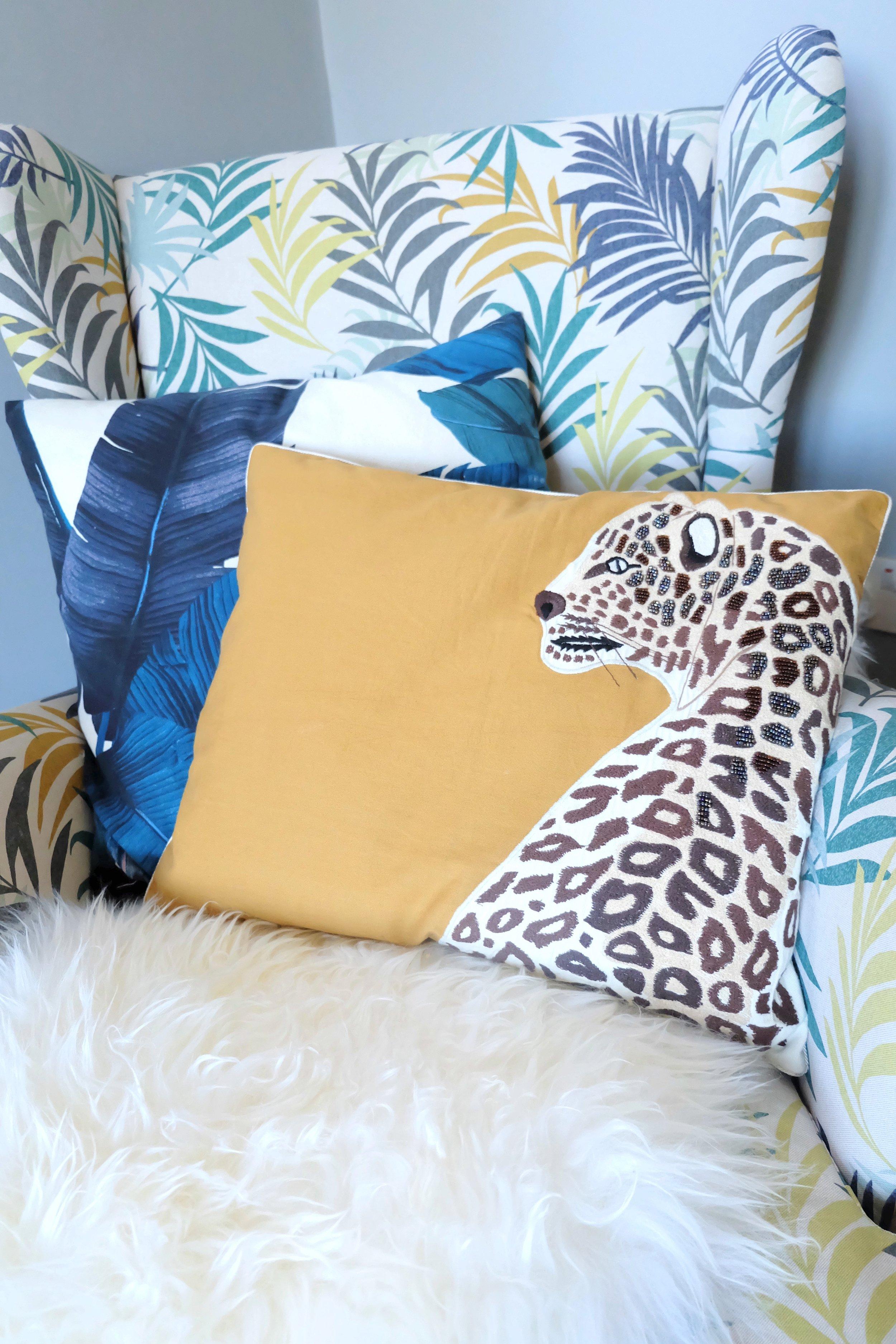 Laura Ashley leopard cushion