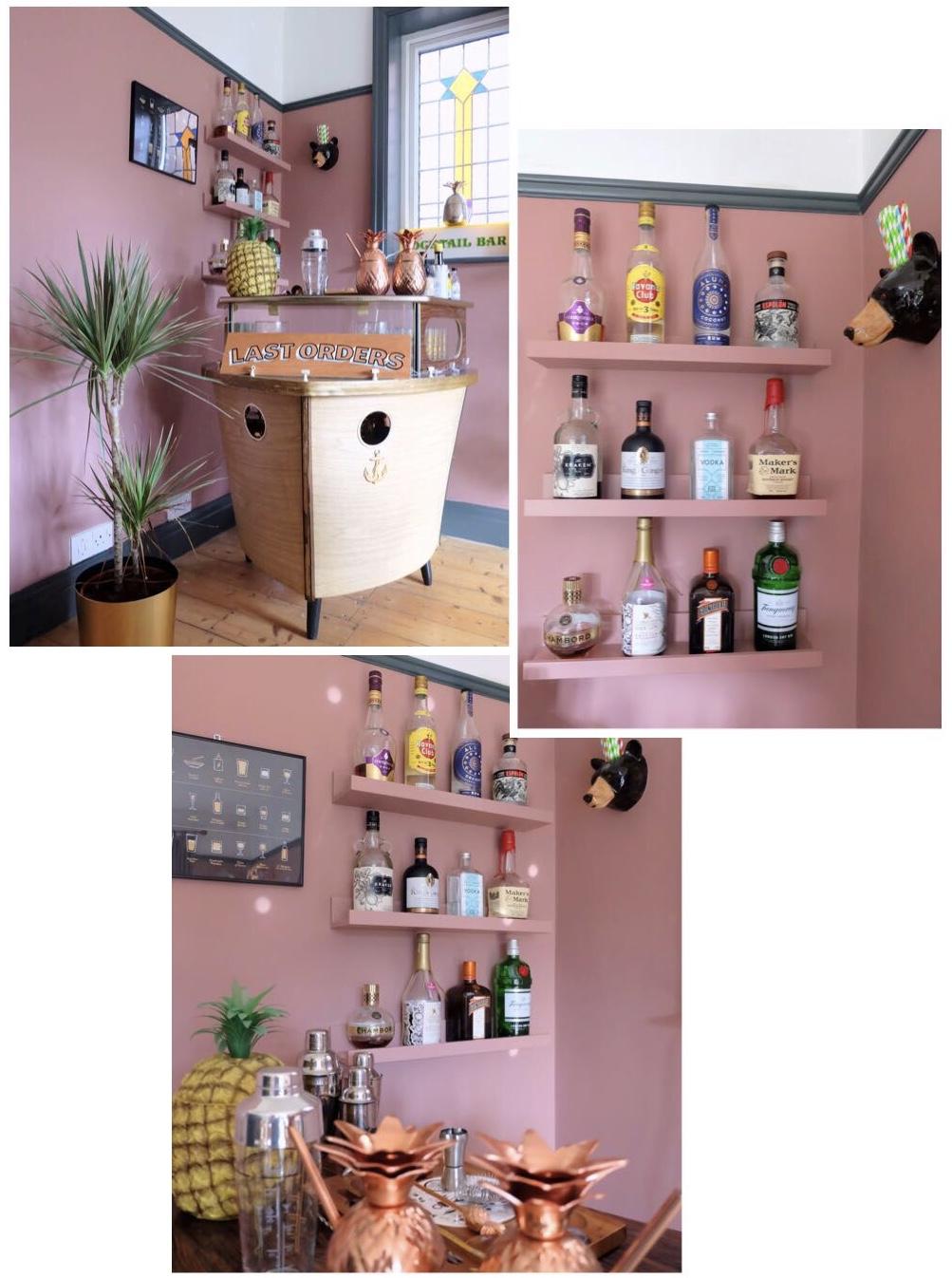 Modern retro pink dining room
