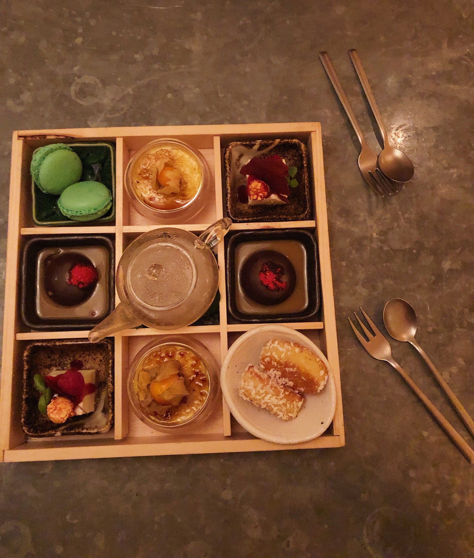 Bento box dessert
