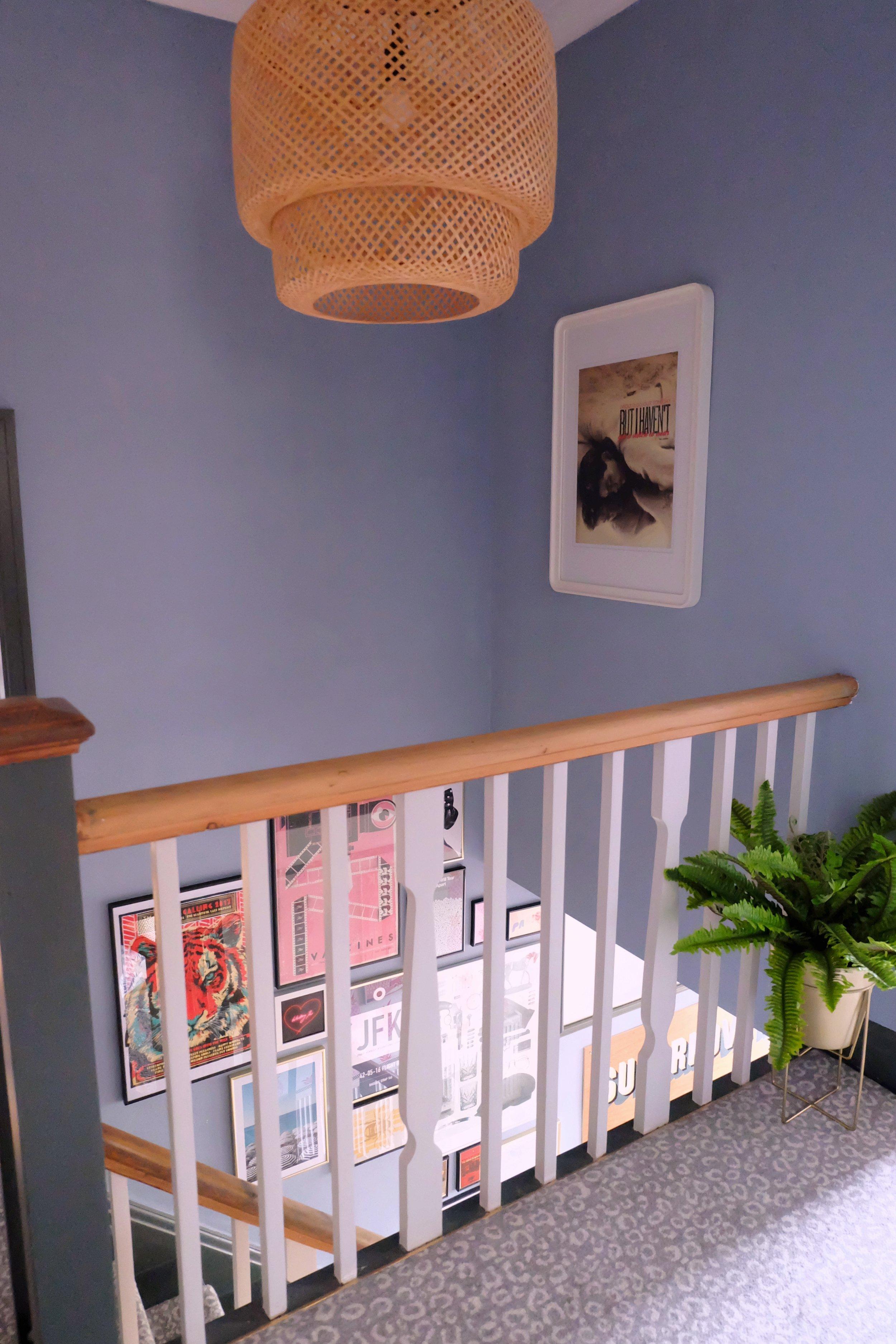 Eclectic hallway decor