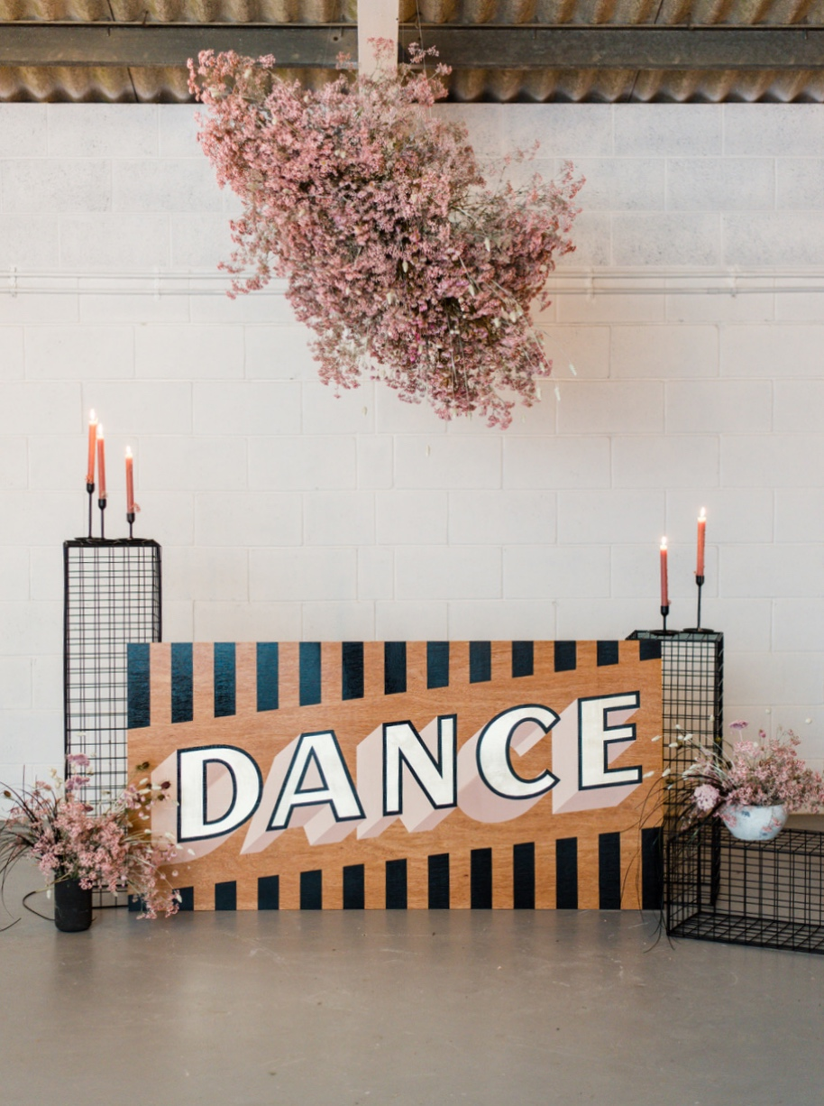 Dance wedding sign