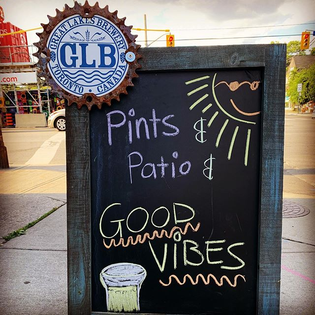 New Sandwich Board!  Thank you @greatlakesbeer #craftbeer  #patio #lastdaysofsummer