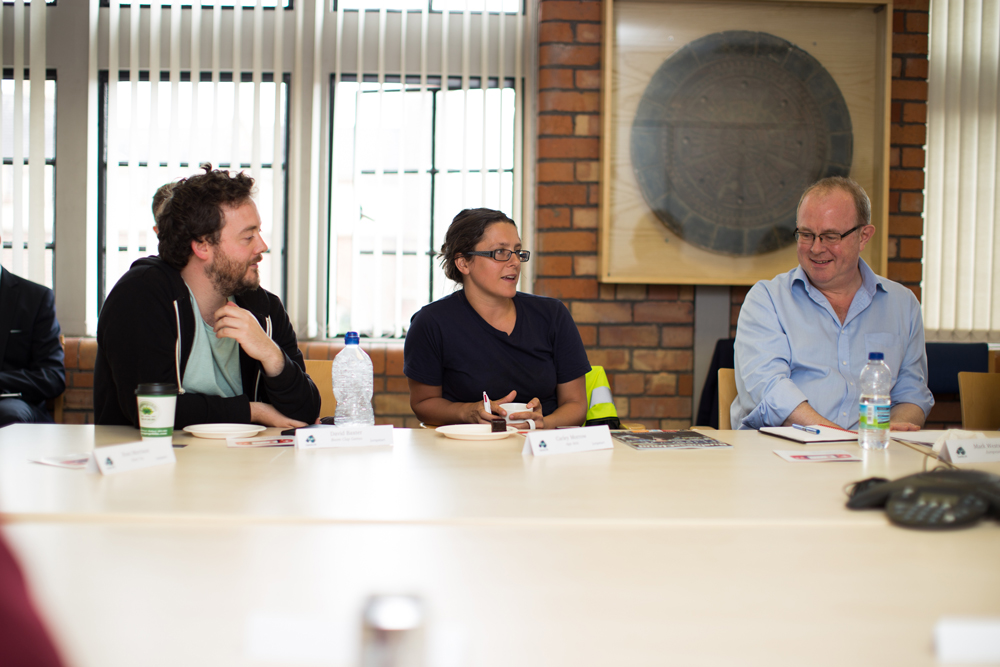 From Left to right; David Baxter from Boom Clap Games, Carley Morrow from App Attic and Mark Westwood from Jumpstart