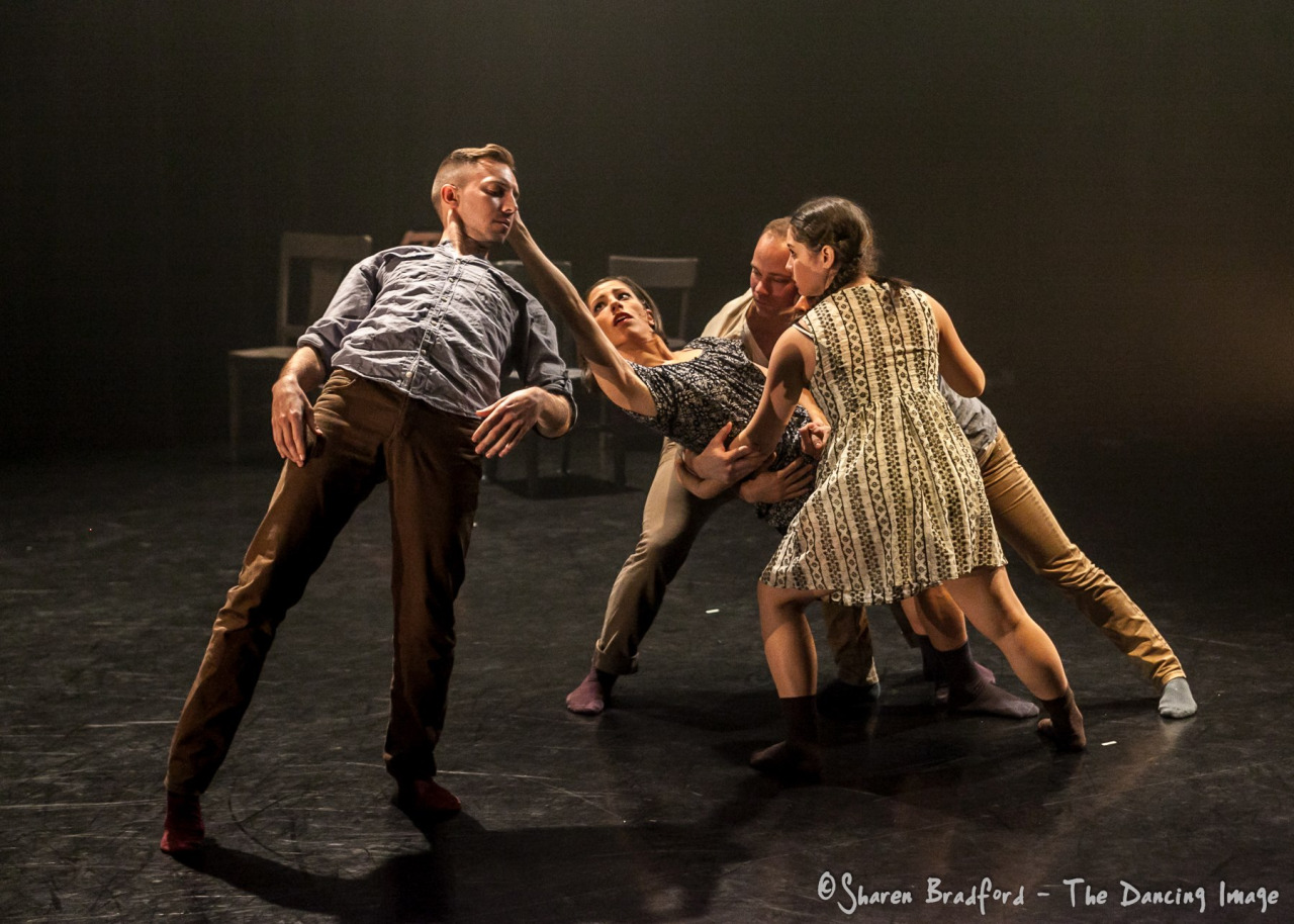A moment from James Gregg's  Boonflood, U.S.A.  created for Dark Circles Contemporary Dance   Premiere January 29, 2015 Erma Lowe Hall, Studio Theatre