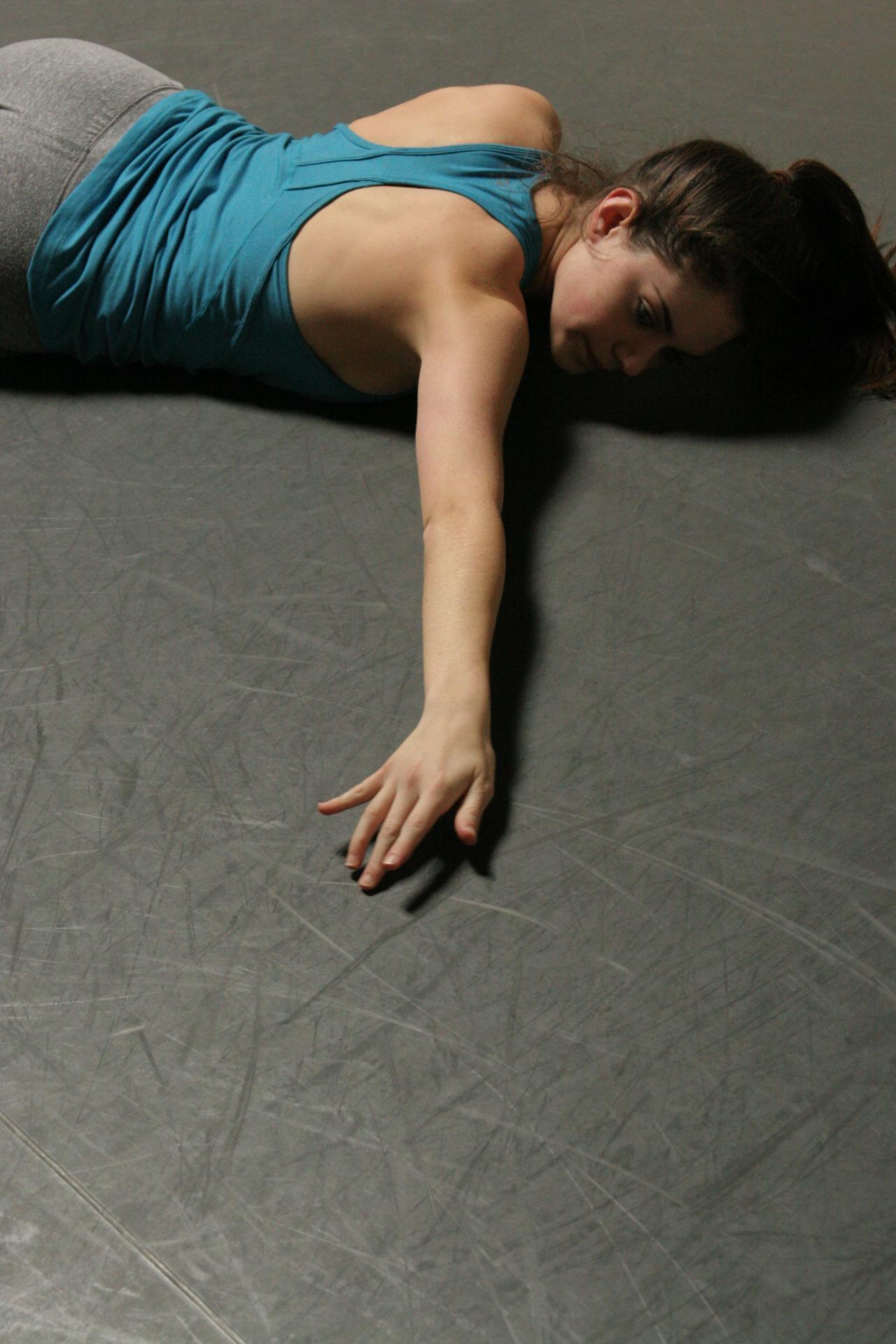 Dancer Emily Bernet rehearsing Joshua L. Peugh's  White Day     WORLD PREMIERE MAR 13-15    GET TICKETS:  http://www.darkcirclescontemporarydance.com/