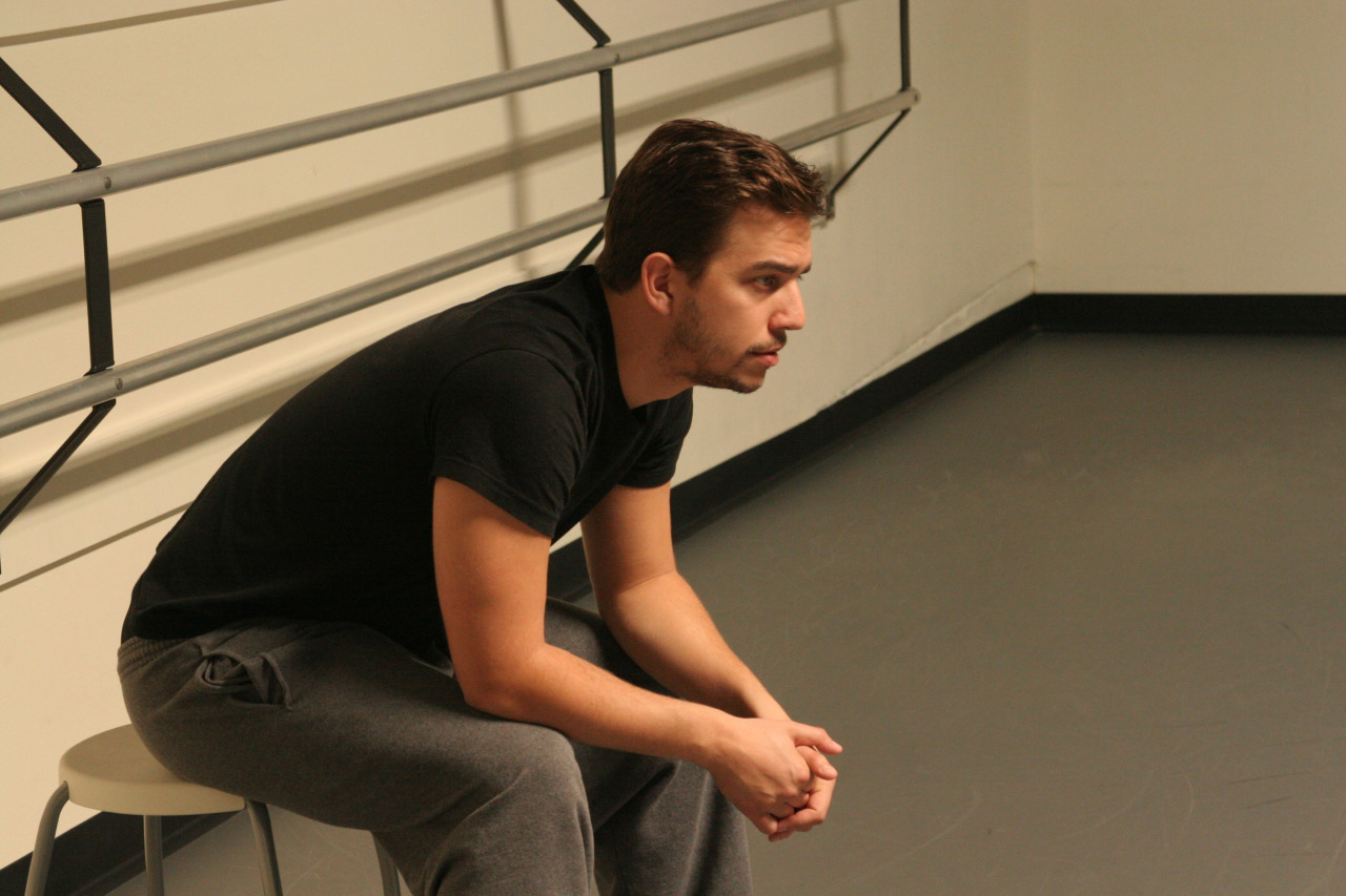 Guest choreographer Louis Acquisto rehearsing his new creation  Nemesis Variations     WORLD PREMIERE MAR 13-15    GET TICKETS:  http://www.darkcirclescontemporarydance.com/