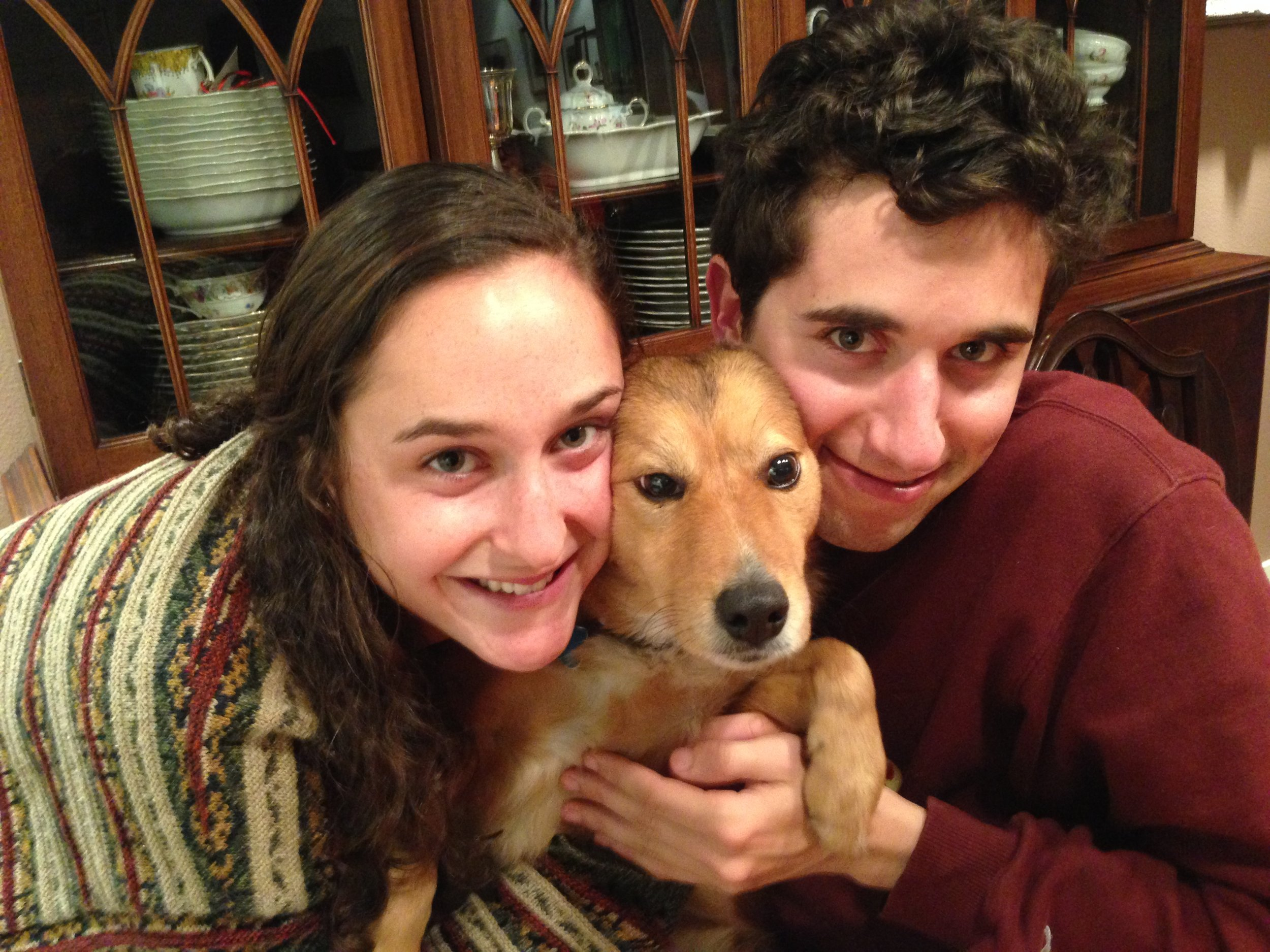 Lena with brother Geffen & Cleo Sasha Fierce.