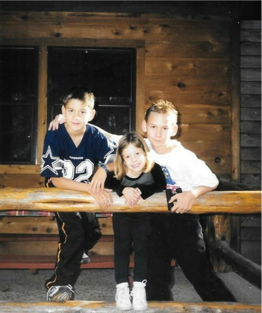 Victoria and her brothers.