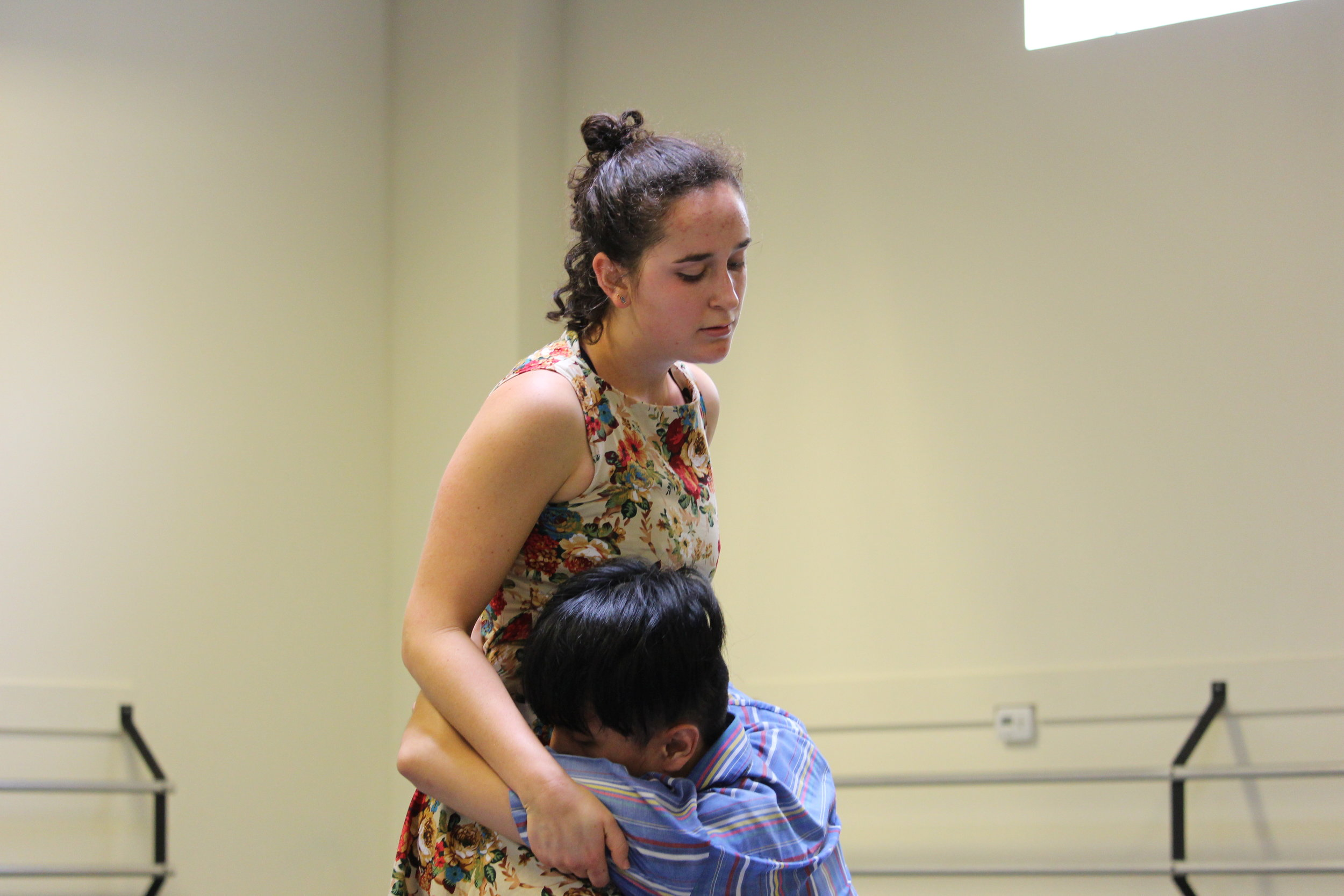 Lena Oren & Orlando Agawin rehearse Joshua L. Peugh's  Rattletrap .
