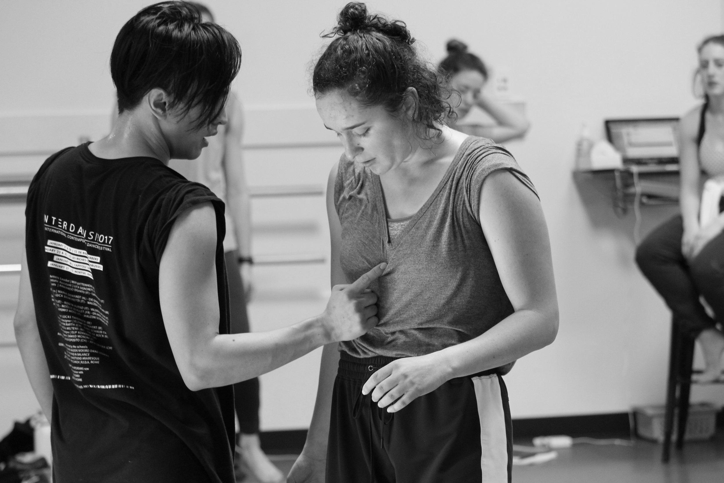 Lena & Orlando rehearse  Rattletrap .