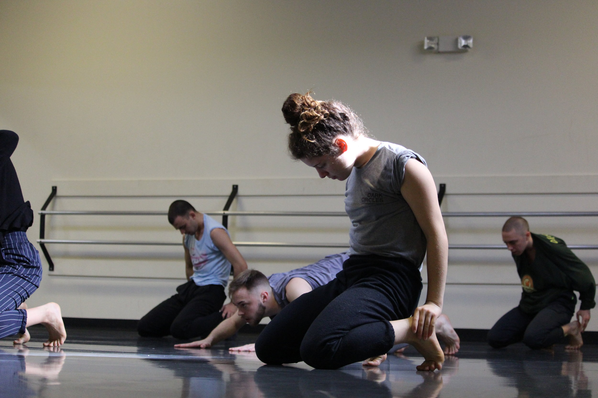Victoria Daylor in rehearsal.