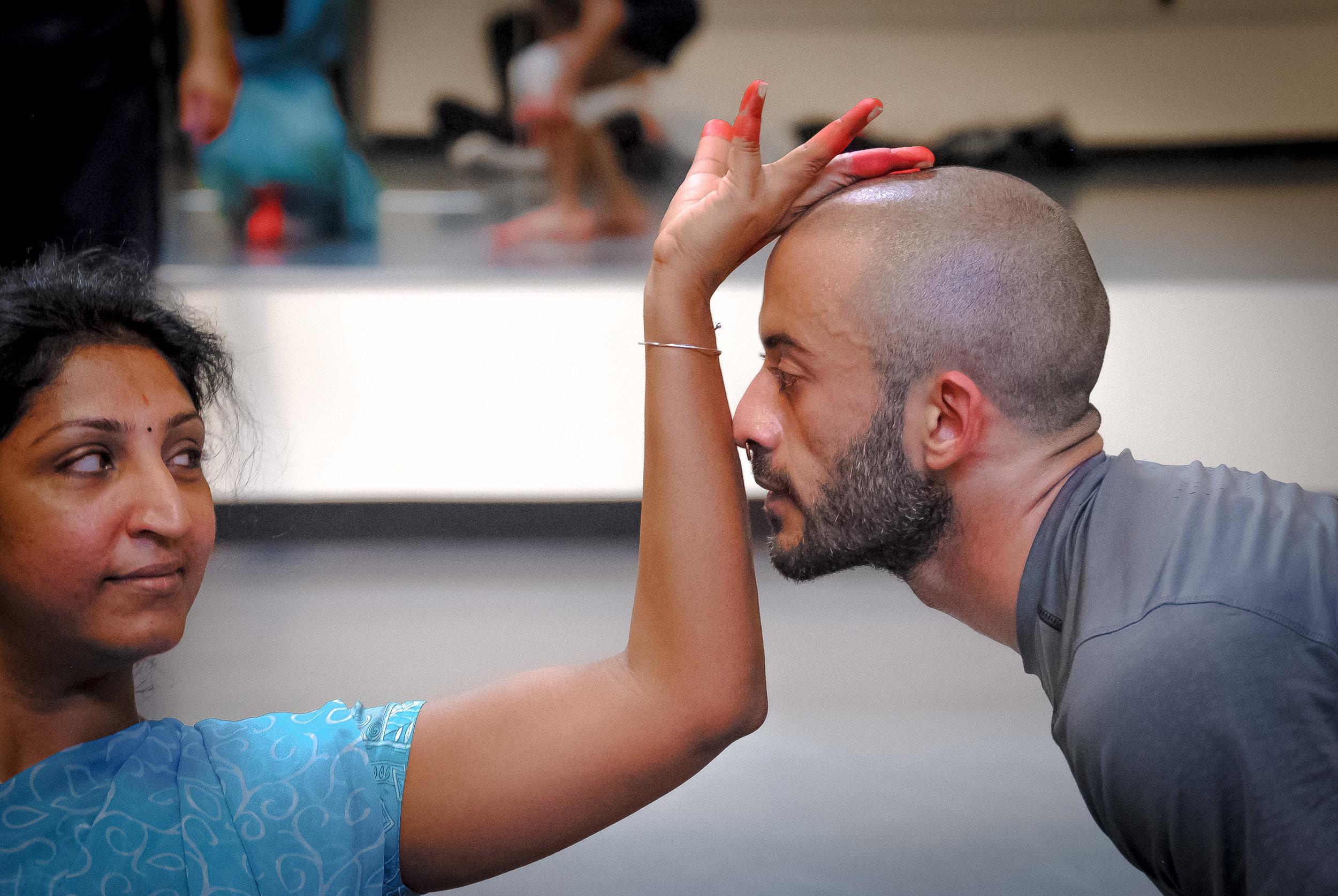 Bhuvana & Chadi El-Khoury in rehearsal.