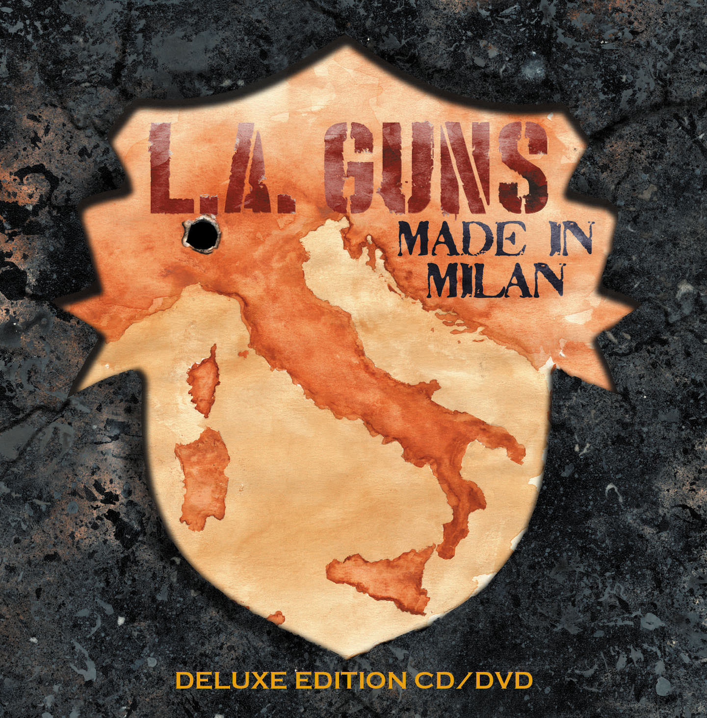 """Made In Milan is one of the few records that capture that true live concert experience. From the first riff to last roar of the fans, L.A. Guns have created something very special for both new and old fans alike.    -I'm Music Magazine    The duo that defined LA Guns in their classic years is back again, with a strong performance in an exotic, worldly destination. Guns proves why he's one of the go-to guys for guitar, and Lewis' voice is as strong as ever, giving these songs the soul and the energy that they require.    -zrockr    It (Made in Milan) marks a new chapter and a newfound enthusiasm within the band, which is pretty cool in and of itself, and it is splendid to hear the rapturous audience go ape-shit to the band's song material both old and new    -Eternal Terror    If you want to hear a classic Sunset Strip band at their 2018 best, Made in Milan is just what you are looking for    -Shockwave Magazine   The reunion of Tracii Guns and Phil Lewis under the L.A. Guns banner has received much critical and fan praise with the release of their first album together in over 17 years, """"The Missing Peace"""", last October. Prior to that album's release, with a new-found energy and enthusiasm, L.A. Guns stormed onto the stage in Milan, IT in April 2017 at the  Frontiers Rock Festival . Their scorching, high octane, mind-blowing set was captured on audio and video.  This once in a lifetime performance, aptly named  """"Made in Milan"""" has been released today via  Frontiers Music Srl. A truly spectacular performance that shows a band exploding with energy.  Order this amazing show on CD/DVD, Blu-Ray, Vinyl & Digital HERE: http://radi.al/MadeInMilan    For More Info Visit:    http://www.lagunsmusic.com    https://www.facebook.com/LAGunsOfficial    https://twitter.com/laguns    https://www.instagram.com/laguns/"""