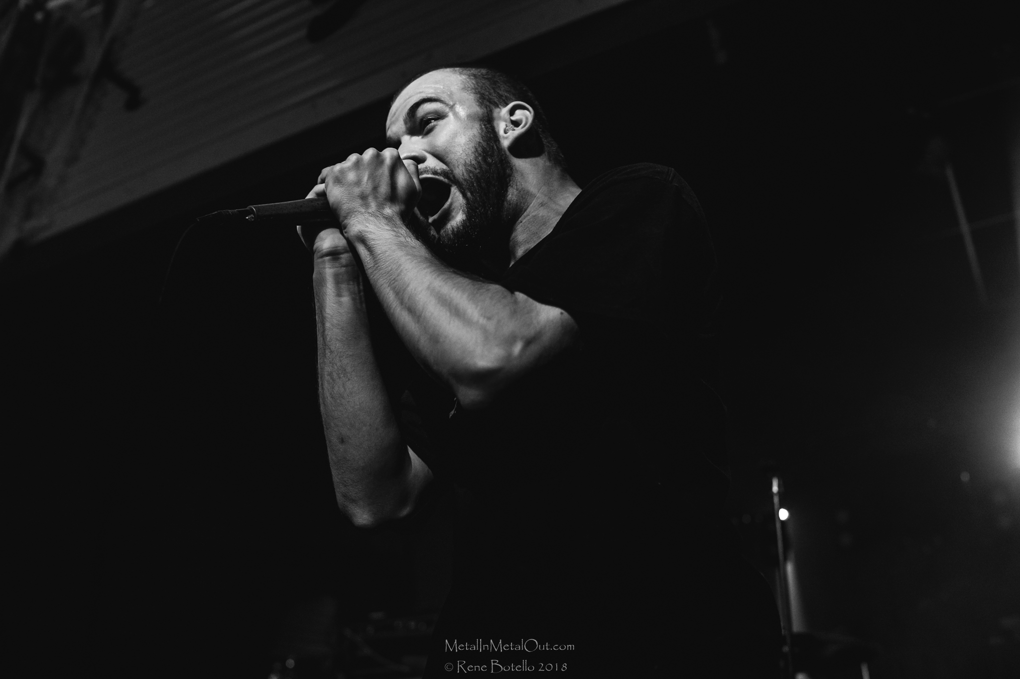 At the time, vocalist Bryan Garris was unable to make the show due to a family emergency, which we wish them well, the band continued on in full force with Isaac Hale taking on some vocal duties as well as members from Beartooth stepping up to the plate.  As they have said before, they will never miss a show.  Gotta give them props.  Not only did they make they show, they completely dominated the set.  Song after pummeling song, the most pit became of tornado of body parts whirling about.  At one point even a 50 gallon trash can made an appearance in the pit to some poor unfortunate faces! It's been a while since I've seen such madness with tooth grinning smiles circling about.