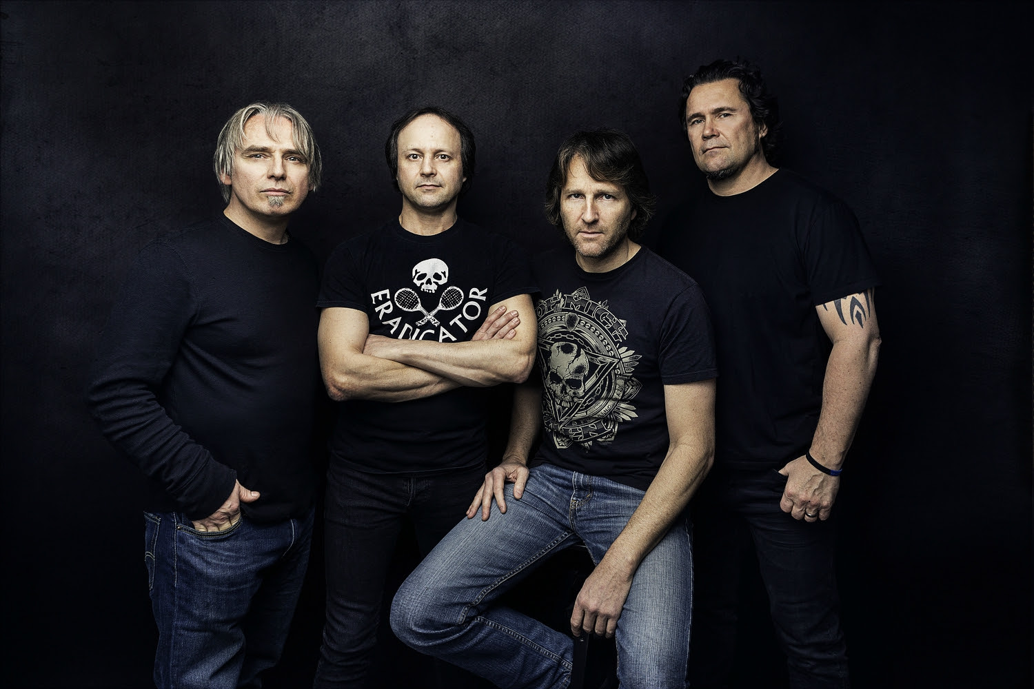"""L-R =Alain Groulx (Drums, Backing Vocals) 