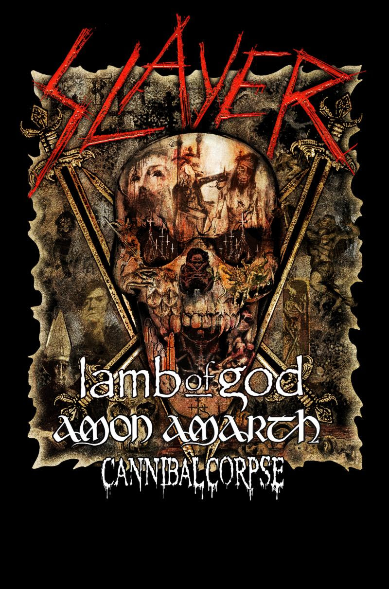 "CANNIBAL CORPSE  will kick off their North American tour supporting Slayer this week. The journey begins May 2nd in Phoenix, Arizona and runs through sixteen cities, concluding on May 25th in Mansfield, Massachusetts. Additional support will be provided by Lamb Of God and labelmates Amon Amarth. The band's latest journey follows their co-headlining run with Morbid Angel on the Decibel Magazine Tour earlier this year. See all confirmed dates below.   CANNIBAL CORPSE w/ Slayer, Lamb Of God, Amon Amarth:    5/02/2019 Ak-Chin Amphitheatre - Phoenix, AZ 5/03/2019 Isleta Amphitheatre - Albuquerque, NM 5/05/2019 UTEP/Don Haskins Center - El Paso, TX 5/07/2019 Bert Ogden Arena - Edinburg, TX 5/08/2019 The Pavilion At Toyota Music Factory - Dallas, TX 5/10/2019 MidFlorida Credit Union Amphitheatre - Tampa, FL 5/11/2019 Coral Sky Amphitheatre - West Palm Beach, FL 5/13/2019 Big Sandy Superstore Arena - Huntington, WV 5/14/2019 Merriweasther Post Pavilion - Columbia, MD 5/16/2019 Ruoff Home Mortgage Music Center - Noblesville, IN 5/17/2019 Providence Medical Center Amphitheatre - Bonner Springs, KS 5/19/2019 DTE Energy Music Center - Clarkston, MI 5/20/2019 Covel Centre - Youngstown, OH 5/22/2019 Canadian Tire Centre - Ottawa, ON 5/24/2019 BB&T Pavilion - Camden, NJ 5/25/2019 Xfinity Center - Mansfield, MA   CANNIBAL CORPSE  continues to tour in support of their critically-lauded  Red Before Black  full-length released last year via Metal Blade Records. Many words come to mind when you hear the name  CANNIBAL CORPSE , but only one truly defines the soon-to-be thirty-year death metal veterans: Unstoppable. Produced by Erik Rutan (Hate Eternal, Goatwhore),  Red Before Black  serves to not only reiterate this but to once more raise the stakes, making it abundantly clear who sets the standard when it comes to manifesting consistently compelling music that is as brutal as it is complex. ""Throughout our career, we've tried to improve the precision of both our musical execution and our album production, while still maintaining full-on aggression.  Red Before Black  continues in that direction, but might go even further on the aggressive side of things. It's definitely precise, but it has a rawness to it that goes beyond anything we've done recently,"" asserts bassist Alex Webster. ""We really worked super hard crafting these songs, practicing them, and getting them where we wanted to be more so than on any of our previous albums,"" adds drummer Paul Mazurkiewicz. ""And as Alex said, musically I think it's the rawest sound we've had - and at the same time I think it's our most focused, tightest, and catchiest record.""  To preview and purchase  Red Before Black , visit:  metalblade.com/cannibalcorpse    ""Taking the best aspects of the band's sound from such works as Torture and Evisceration Plague, the album presents a truly evil tinge throughout its brutal composition."" -- Metal Injection    ""Red Before Black proves there's monster mileage pooled in this band's reserves."" -- Blabbermouth    ""...yet another solid album to add to    CANNIBAL CORPSE   's stellar catalogue."" -- Exclaim!      http://cannibalcorpse.net   http://www.facebook.com/cannibalcorpse   http://twitter.com/CorpseOfficial   http://www.youtube.com/user/cannibalcorpse   http://www.metalblade.com   http://www.facebook.com/metalbladerecords"