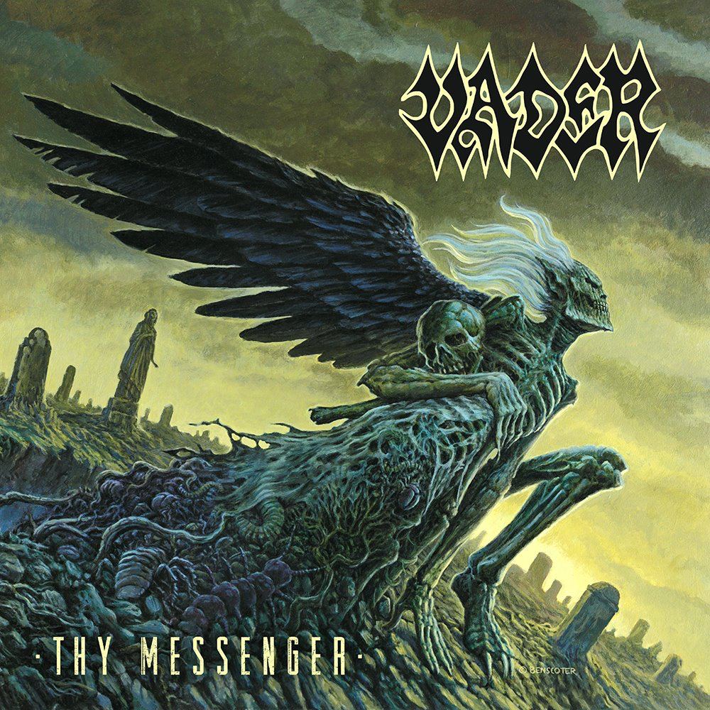 "Today, Polish extreme metal veterans  VADER  are releasing their new EP titled     Thy Messenger  . Also, the band have reveal a new lyric video for the single "" Steeler"".   Check it out here:  https://www.youtube.com/watch?v=NvpidgZYb00   The band states:  ""We are so happy to give you all    VADER   's new EP    Thy Messenge   r. We recorded those five songs in January , when we supposed to record full length album. However, we changed some plans and dates , which delated LP till December 2019.  Since we already had several songs ready, we decided to travel to   Hertz Studio    again and record as independent release. We added re-make of a title track from album 'Litany' , which was recorded 20 years ago. This one became one of favorites among our fans and we plan to perform the whole album as part of live-set in Autumn this year. The other song is our version of 'Steeler' from legendary    JUDAS PRIEST British Steel    record and is our huge respect for their heritage in metal scene. In the meantime we're working on the new album in Grindstone Studio in UK with Scott Atkins as producer and there is only some vocals and leads left  to finish whole recordings. We will visit quite many festivals and our own shows in Summer and Autumn and we will bring songs from ""Thy Messenger"" on stage too. See ya soon and… STAY VADERIZED \m/"" .  Order the EP now:  http://nuclearblast.com/vader-thymessenger   You can also check out the video for the recently released single "" Grand Deceiver"" ,here: https://www.youtube.com/watch?v=2a2zpFGUm-M     Thy Messenger   track listing: 01. Grand Deceiver 02. Litany 03. Emptiness 04. Despair 05. Steeler    Thy Messenger     was recorded over a week-long period in January and February at  Hertz Studio  in Białystok, Poland under the supervision of the  Wiesławski Brothers . The cover art was painted by  Wes Benscoter , who previously worked with  VADER  on the   De Profundis      LP and has collaborated with such bands as  SLAYER ,  KREATOR  and  SINISTER .  A new full  VADER  album will be recorded later this year for a tentative autumn release."