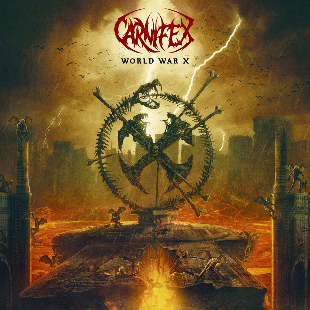 "San Diego, California-based metal outfit  CARNIFEX   are proud to announce their  7th studio album ,  World War X,   will be released on August 2nd via  Nuclear Blast . Today, the band releases the first single ,      "" No Light Shall Save Us "" featuring  Alissa White-Gluz (ARCH ENEMY),  with a music video directed by  Scott Hansen  ( POSSESSED ,  MOTIONLESS IN WHITE ,  DEICIDE, PRONG ) .   Watch the video for  ""No Light Shall Save Us""  featuring  Alissa White-Gluz  here :  www.youtube.com/watch?v=84Ru-BnBL74     CARNIFEX's  frontman  Scott Ian Lewis  comments, "" Collaborating with Alissa on '   No Light Shall Save Us   ' was a joy from the start. Alissa was able to elevate the song with a dynamic that's completely new for   CARNIFEX.    There is a melody and depth on '   No Light Shall Save Us   ' unlike any previous    CARNIFEX   song. It's the perfect start to your journey through    World War X   . ""    ""With '   No Light Shall Save Us   ' I think    CARNIFEX    and I have been able to create a really special piece, "" comments  Alissa White-Gluz .  ""The video shoot was an incredible experience and from the second I read the lyrics and heard Scott's vision for the song I knew I could really build on it and express myself. I'm excited to share this with the world!""   Pre-order   World War X   here:  http://www.nuclearblast.com/carnifex-wwx  Pre-save the album on Spotify, Deezer & Apple Music:  http://nblast.de/CarnifexPreSave    World War X  was produced by  CARNIFEX  and  Jason Suecof  ( DEATH ANGEL ,  CHELSEA GRIN ,  JOB FOR A COWBOY ). The album was recorded and mixed   by Jason at  AudioHammer Studio  in Sanford, Florida. Vocals for the album were tracked by  Mick Kenney  ( ANAAL NATHRAKH ,  BLEEDING THROUGH ) at  The Barracks Studio  in Huntington Beach, CA. The album artwork was created by Blake Armstrong.     World War X   Track Listing:  World War X  Visions Of The End  This Infernal Darkness  Eyes Of The Executioner  No Light Shall Save Us featuring Alissa White-Gluz  All Roads Lead To Hell featuring Angel Vivaldi  Brushed By The Wings Of Demons  Hail Hellfire  By Shadows Thine Held   CARNIFEX  is supporting     World War X   on the road as a headliner on this year's highly anticipated Summer Slaughter  tour. The line-up includes  THE FACELESS .  RIVERS OF NIHIL , NEKROGOBLIKON , and  BRAND OF SACRIFICE ."