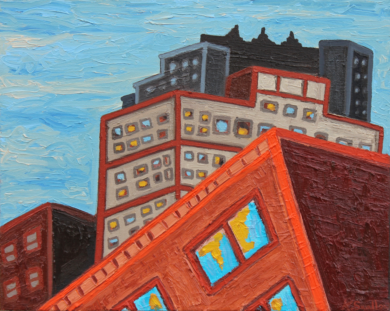 Wabash Corridor, oil on canvas, 16x20, 2015, AVAILABLE