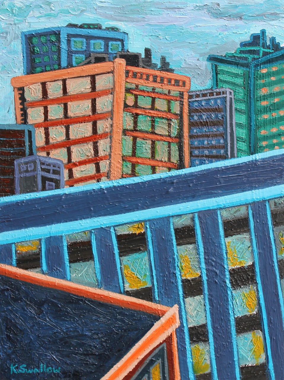 View from 12th Floor, oil on canvas, 24x18, 2014, AVAILABLE