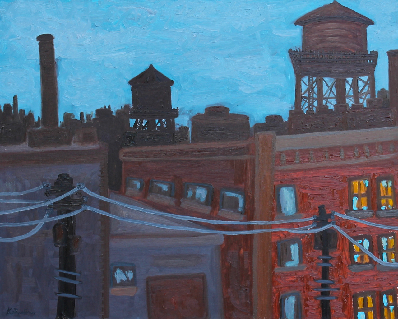 South Loop Lookouts, oil on panel, 24x30, 2013, SOLD