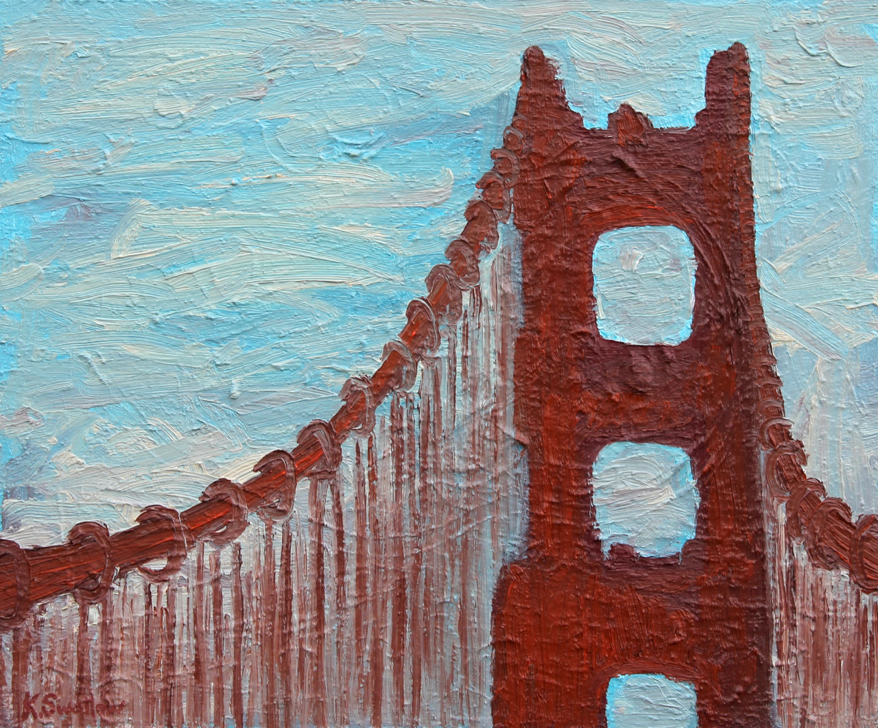 Golden Gate Fog, oil on canvas, 20x24, 2013, AVAILABLE