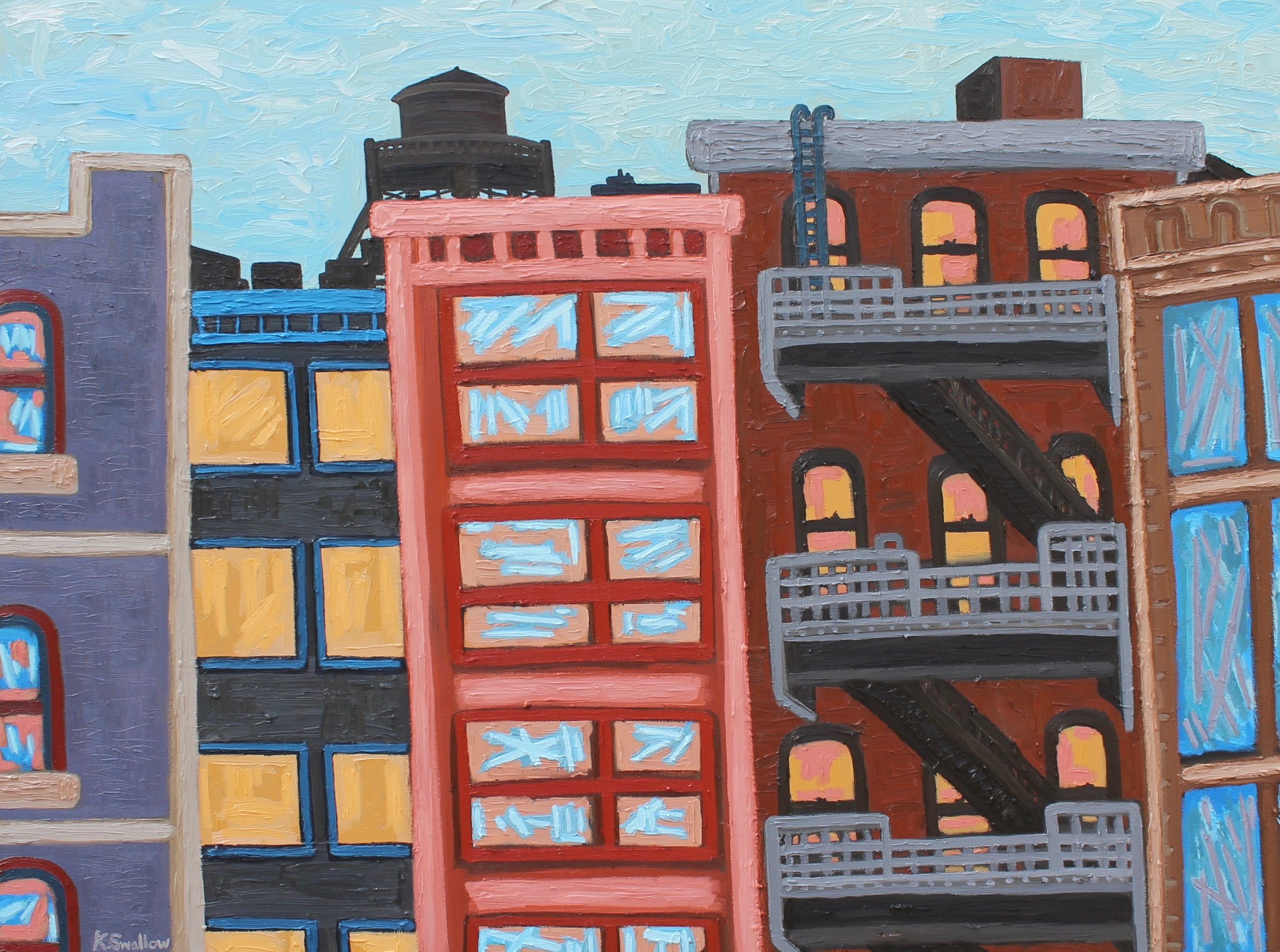 Wooster & Broome St. - NYC , oil on canvas, 36x48, 2017