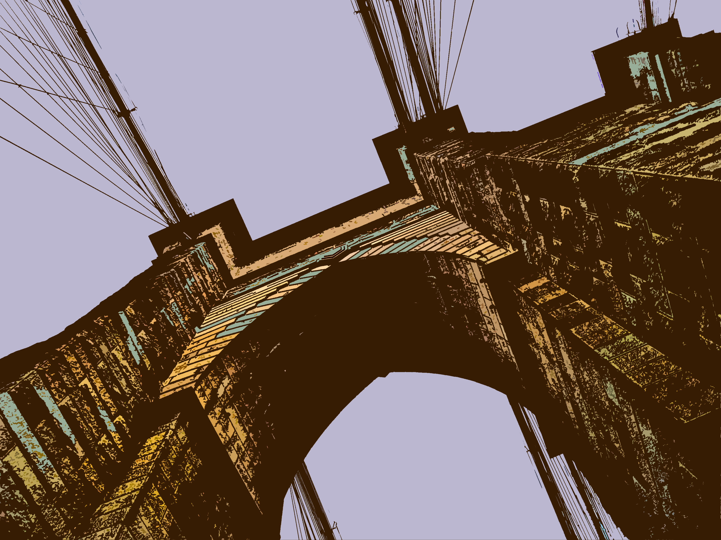 Brooklyn Bridge (New York), digitally enhanced photograph, 2009.jpg