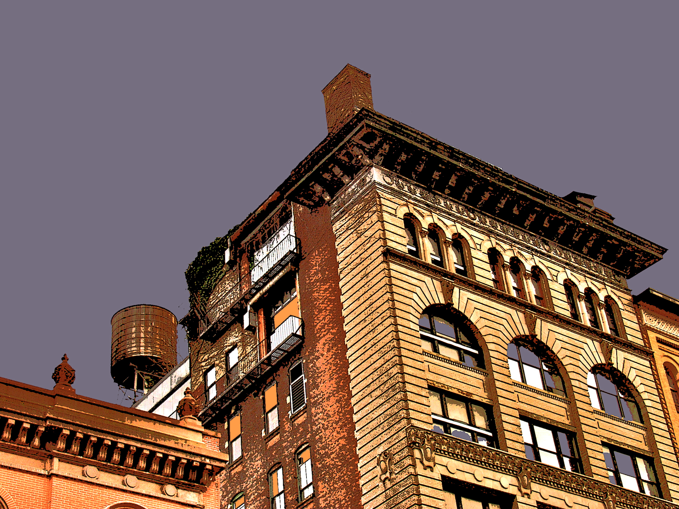 SoHo Tank (New York), digitally enhanced photograph, 2009.jpg