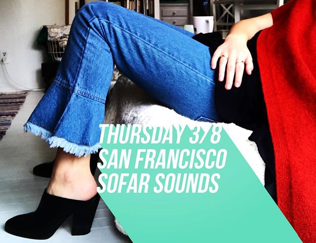 New songs + new jeans = new songs about jeans? // @sofarsoundssf tomorrow 3/8