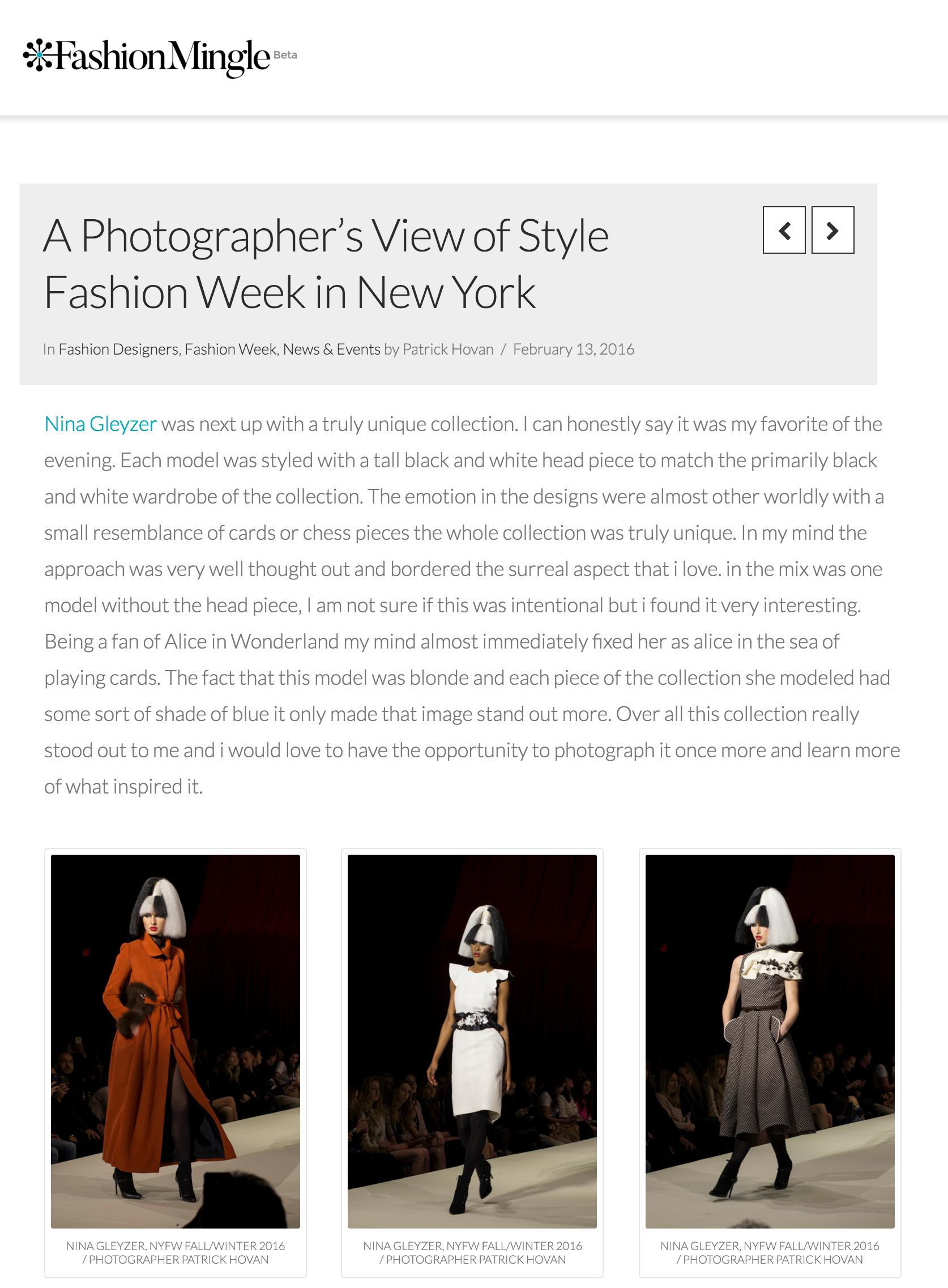 Fashion Mingle — 2016