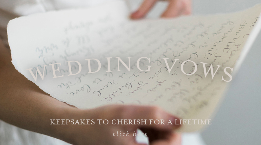 Calligraphy Wedding Vows Gift