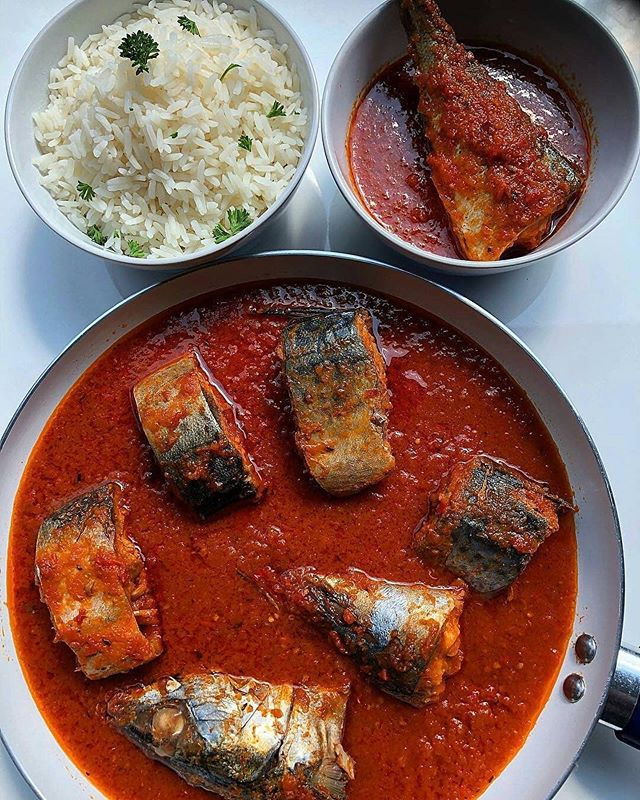 Calling all Chefs! Win $100 dollars guaranteed this month. To enter read to the end - This delectable Mackerel/Titus fish in red tomato based stew from @chefdavies_ -  looks #beyondmeat good. A much healthier dinner option for those looking for something to eat this Monday night. Visit their page for the (recipe on story)❤️ - To recreate a similar quick and easy dish. Why not add our delicious ready made TBTY West African Stew to your cooked Mackerel/Titus Fish. Our Stew has all the West African flavor you know and love without the additional labor and preparation. Win $100 dollars this month by sharing  your food creation ideas using our TBTY West African Stew @tastesbetterthanyours and get reposted on our page. The best looking  design will win $100 dollars this month guaranteed! To enter simply purchase our Stew at TBTY.co make your creation and share a picture with us of your food. Note an image of our product must be in the image to be considered. . . . . . . . . . . . . . . .  #mackerel #fish #rice #foodphotography #food #chef #cheflife #yummy  #nigerian #african #nigerianbreakfast #naija #naijalife #ricerecipe #photooftheday  #eat #instafood #instagood  #nigerianfoodblogger #nigeriancuisine #cnnafrica #naijafoodie #naijafood #nigerianfood #africanfood #westafricanfood #lagos #owambe  #africanfoodblogger