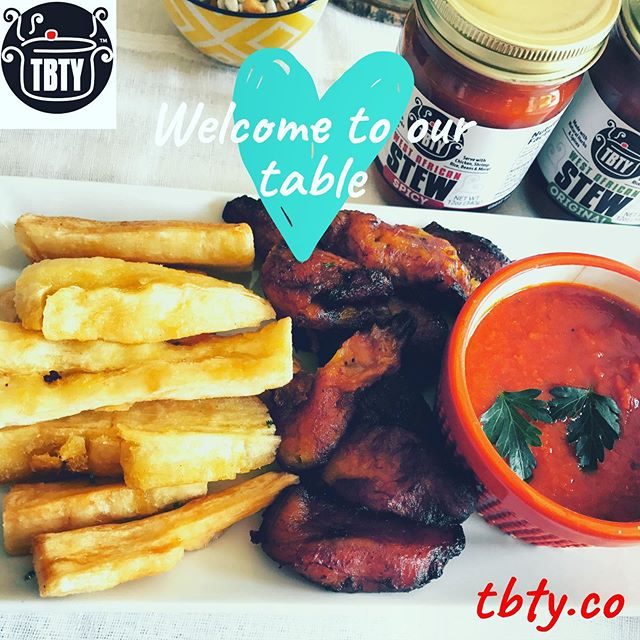 Dodo and Yuca with our delicious TBTY West African Stew. Sharing is caring. Welcome to our table.  Dinner or Breakfast? . . . . . . . . #tbtystew . . . . . . . . . . . . . . . . #dodo #breakfast #nigeriancuisine #nigerianfood #recipes #nigerianrecipes #africanfood # #kitchenlover #lagosfood #nigerianmeals #diaryofakitchenlover #plating #healthyfood #easymealprep #mealprep #eats #liftingnoodles #yummy #instafood #instagood #pasta #nigerianfoodblogger #easyrecipes #nigerianbreakfast #nigerianfood #africanfood #fingerfood