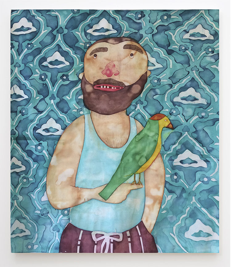 Who Is the Breadwinner,, 43X37 inches, Fabric dye on stretched cotton