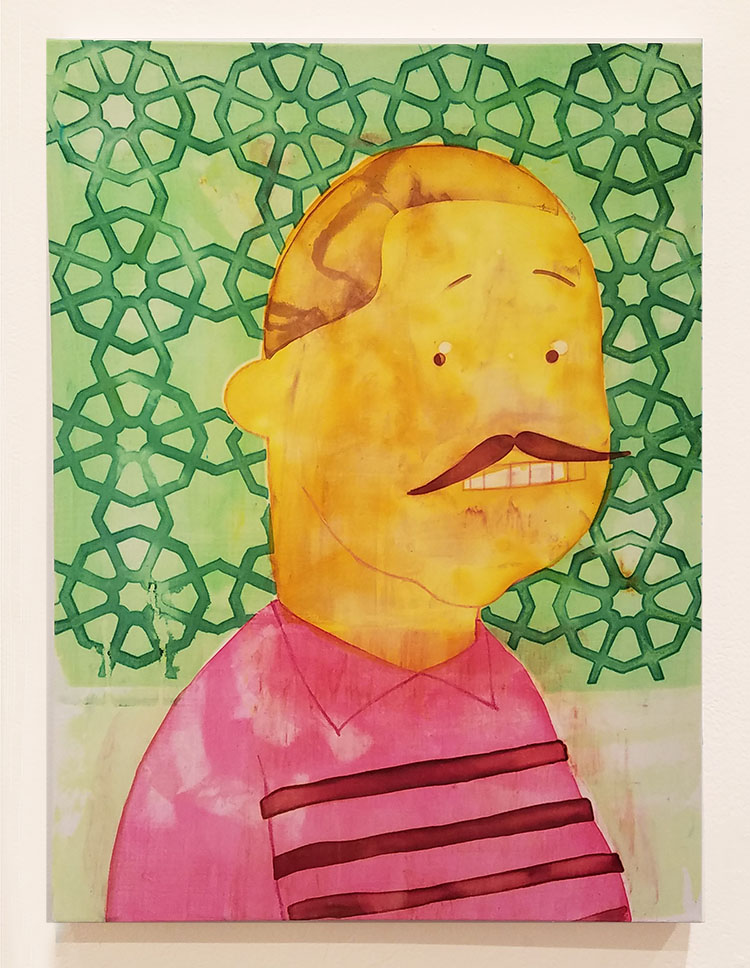 Cheez, 24X18 inches, Fabric dye on stretched cotton