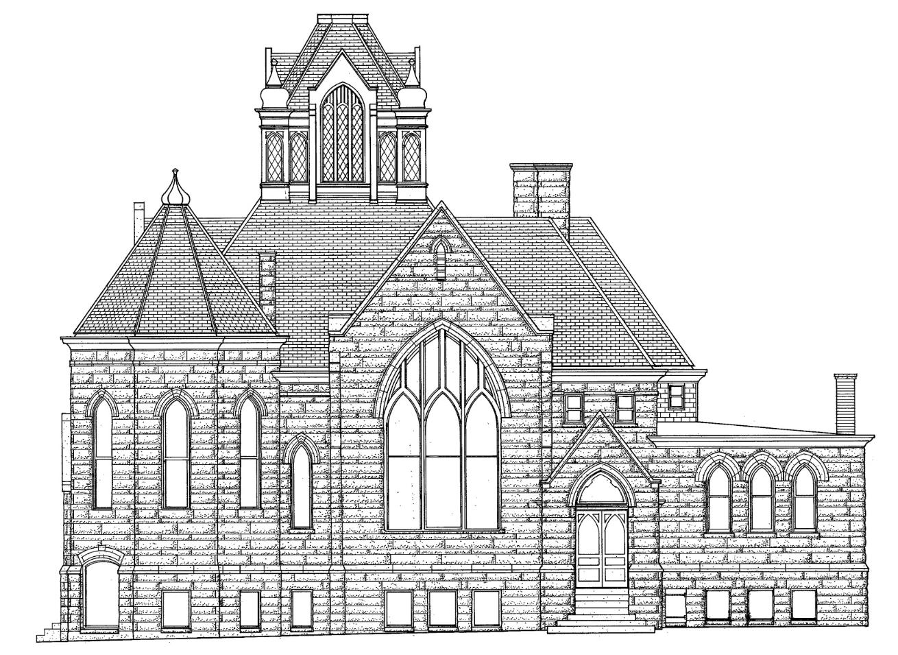 LOCATION: HALE MEMORIAL CHURCH 401 W HIGH ST PEORIA IL 61606