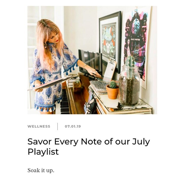 Hello, July! 👋🏼 This month's theme over at @camillestyles is #SAVOR 🥰. As we focus on being more mindful of the beauty and wonder all around us this month, I'm dedicating this month's #musiceditorial to the unique ability of music to teach us about mindfulness and savoring every moment of life.  Check it out with the link in my bio☝🏼, and you'll also find a playlist full of savor-worthy songs to embrace the entire month of July (shout out to my friends with amazing taste in music who sent in their top musical suggestions). Have an amazing month, ya'll! :) #mindthemusic #powerintheplaylist #tunein #newmusicmonday #musicwellness #sonichealth #selfcare #musicmindfulness #livinginthemoment