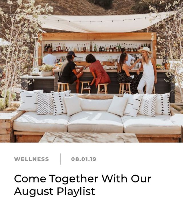 Hello, August! 👋🏼 Come together this month with our playlist we just dropped in honor of this month's editorial theme #CONNECTION 👫👩❤️👩👭. This playlist is meant to highlight the power of music that drives social bonds that are so critical to our sense of well-being and fostering group identities.  Read my #musiceditorial for @camillestyles and tune into the playlist for every excuse to connect more deeply this month. 💓 And check out Camille's #letterfromtheeditor on fostering genuine heart-to-heart connections and other posts throughout the month on shared ideas for deepening bonds with family and friends (new and old) 🙌🏼. Link in bio ☝🏼 . #powerintheplaylist #mindthemusic #newmusicthursday #likeyoumeanit #selfcare #wellness #tunein #sonichealth #musicmindfulness #socialbonding