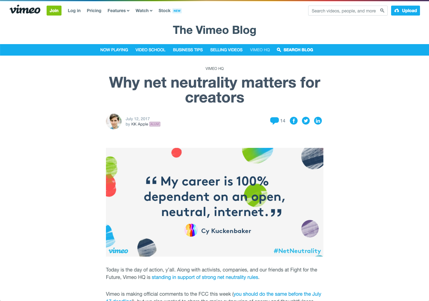 why net neutrality matters for creators blog