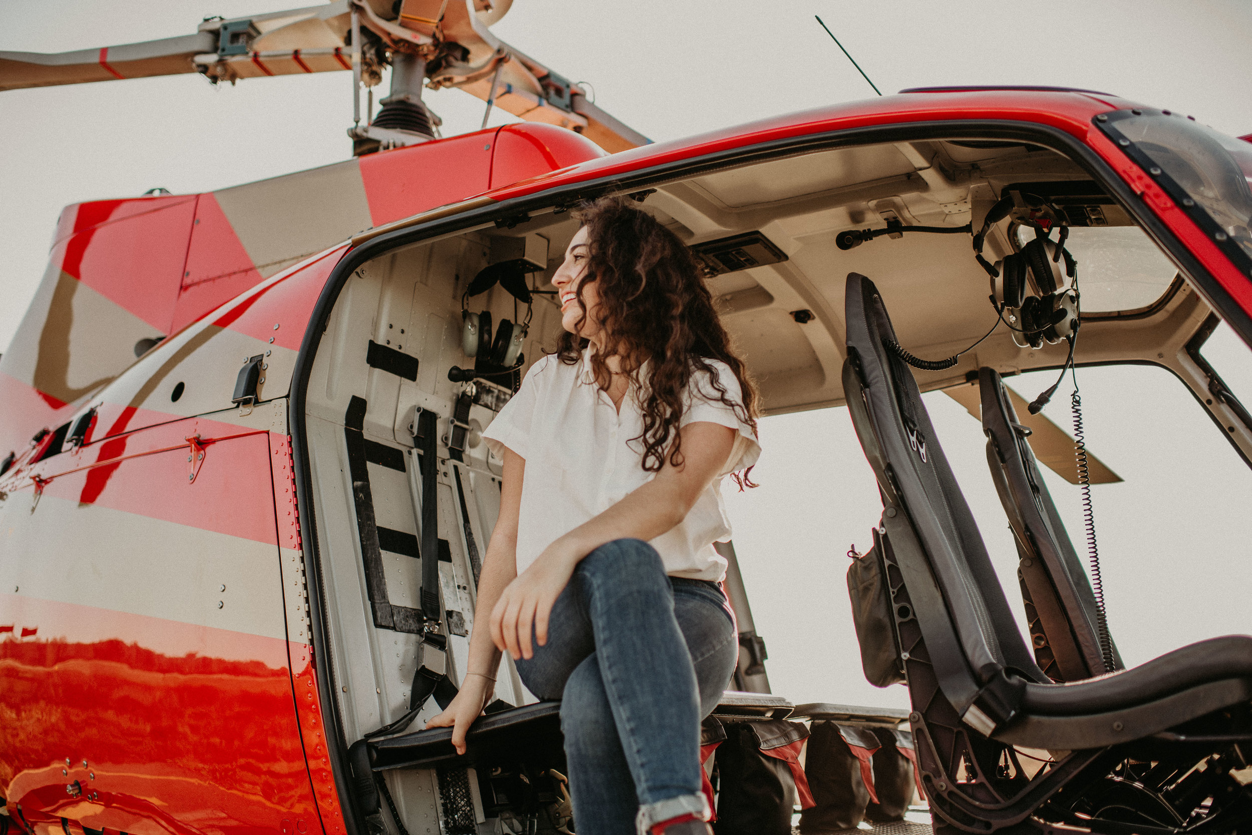 Just chillin' on the helicopter!  - (Still in awe that this happened!!!)