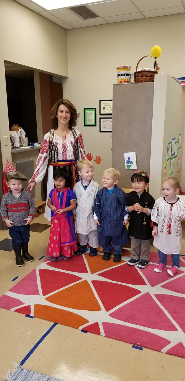 Aurora with the Toddler Class