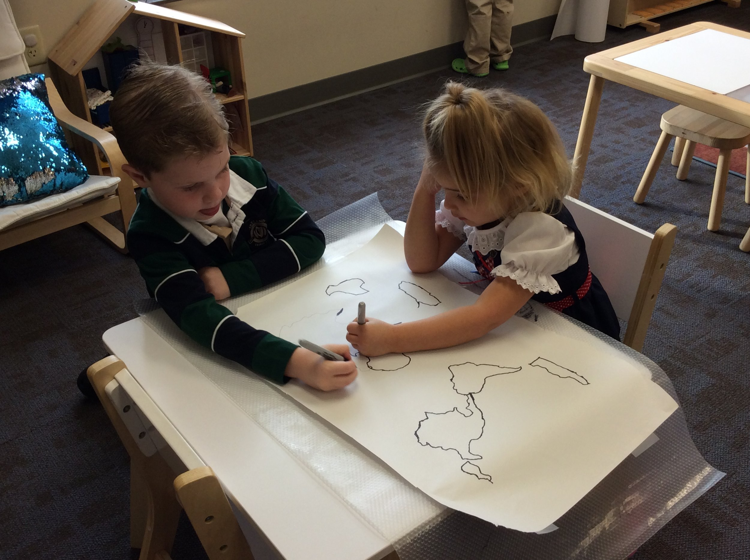 Of course after all the celebrations students wanted to work on maps