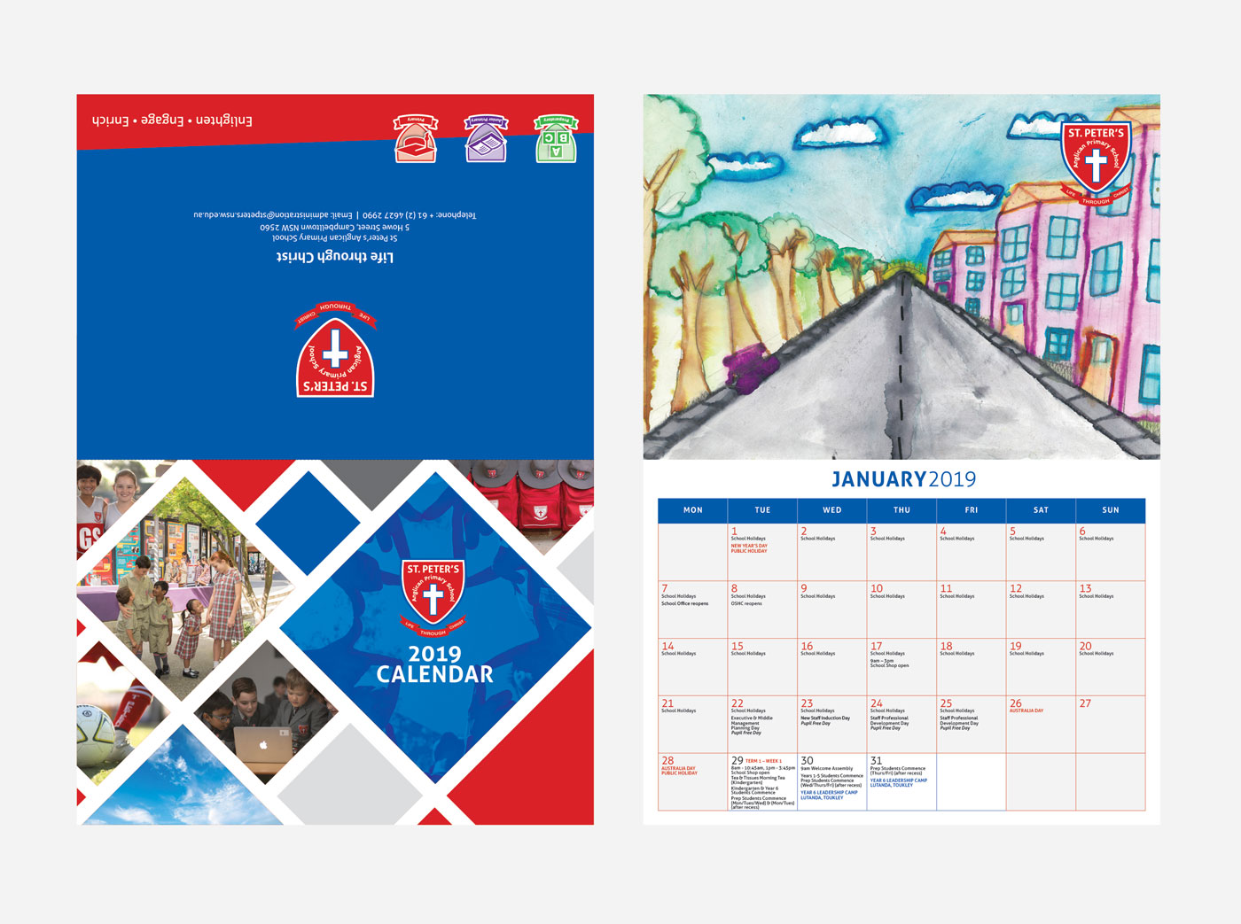 St Peter's Anglican Primary School 2019 Calendar