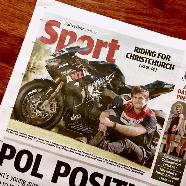 Frequent Flyers - on and above the ground! Great coverage of a great story. New Zealand's motorcycle racing family  @teamreesnz who regularly traverse the Tasman to take on Australia's best in the @asbk, this weekend at one of Australia's top venues, @thebendmotorsportpark right here in our own back yard! Thanks @tisersport