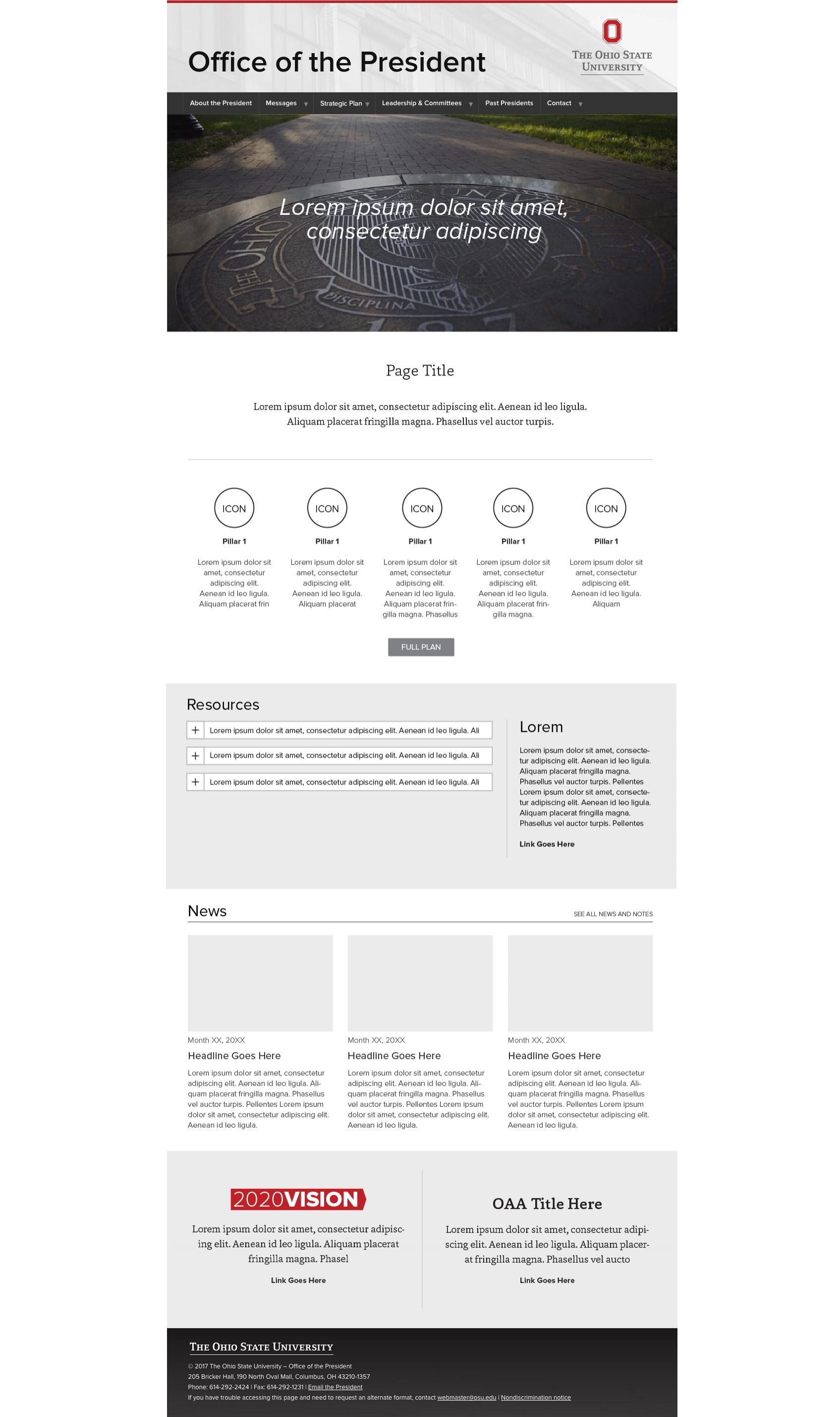 Initial webpage prototype