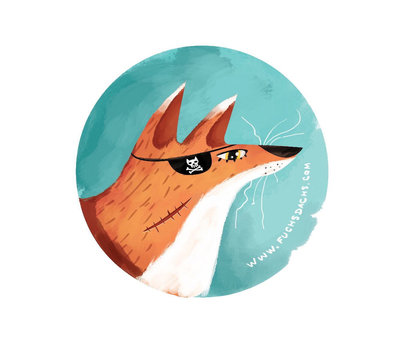 Sticker illustrations,merchandise  Fuchs+Dachs Studio