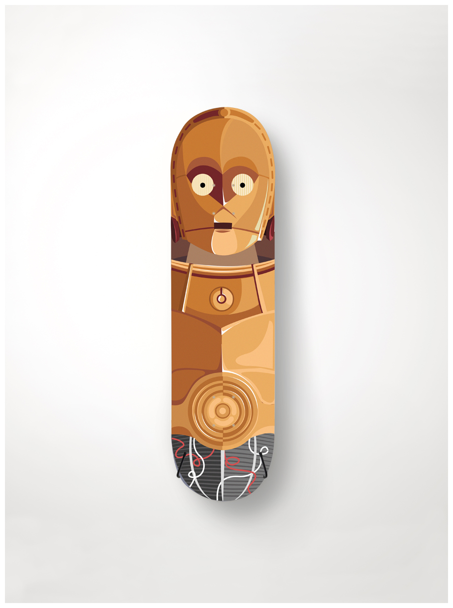 Robot illustratons for skateboard decks  Personal project /  see all   here